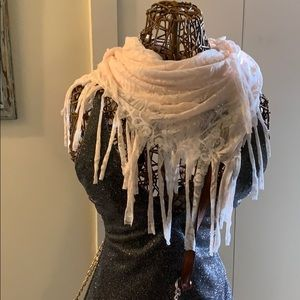 Silver Jeans Infinity Scarf With Tags